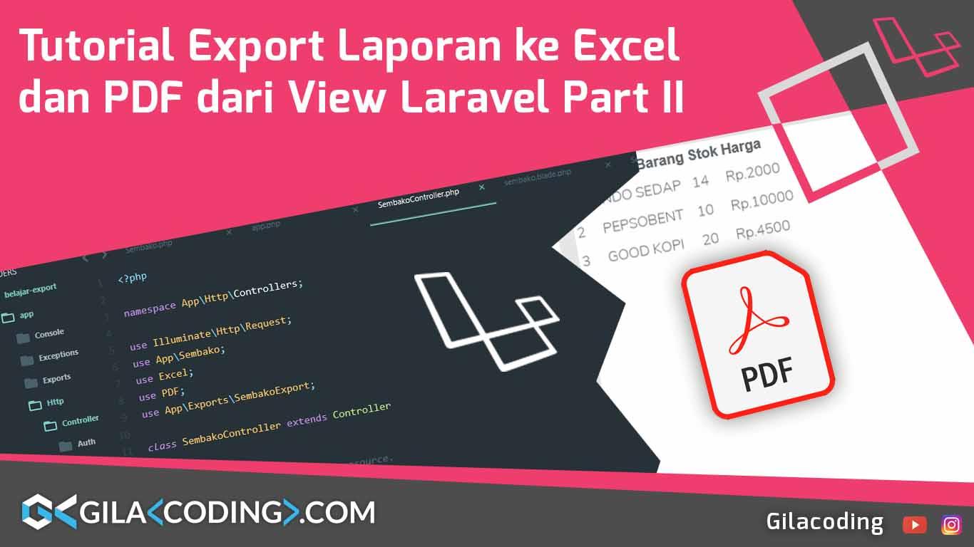 Export Laporan Laravel 5.7 ke PDF