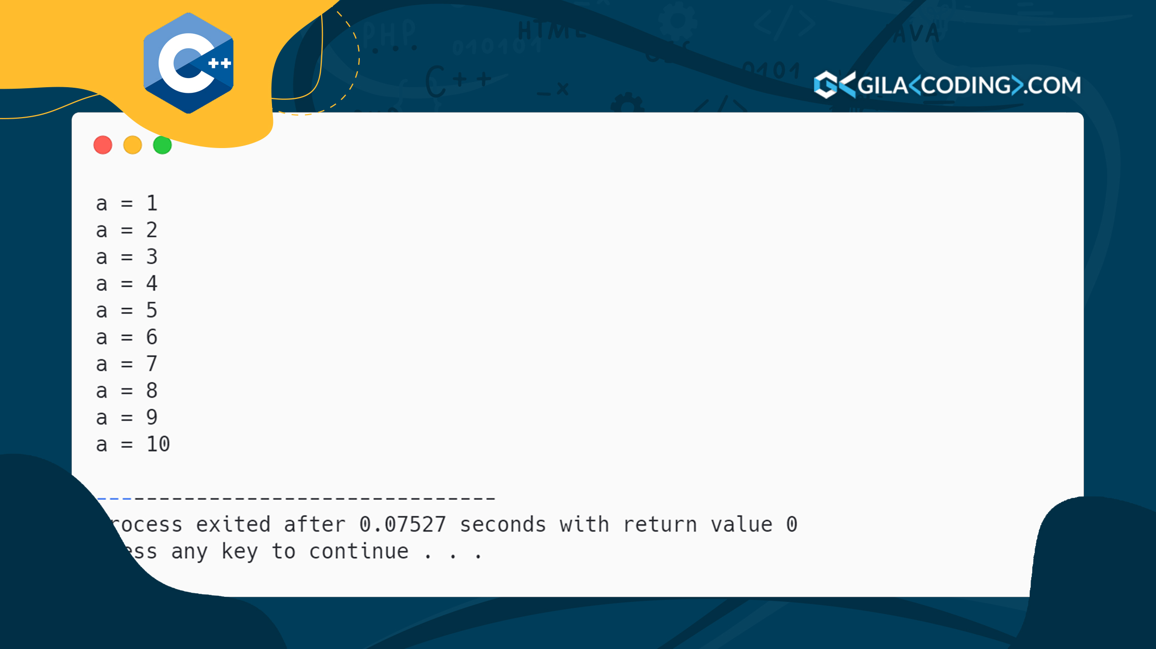 Contoh Perulangan For, While & Do While menggunakan C++